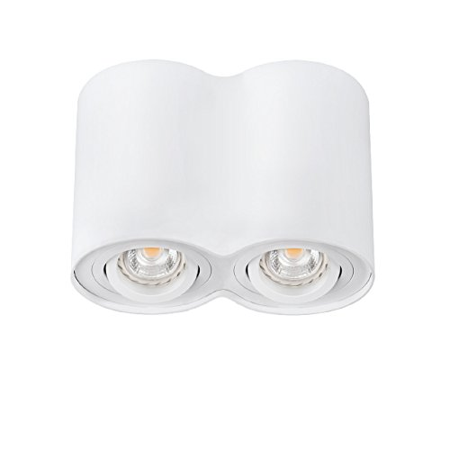 Set: LED Foco para empotrar 2 x GU10, Bar de giro LED techo ...