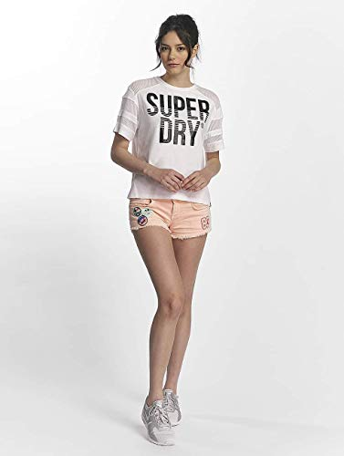 Pieced Camisetas Superdry Blanco Mujeres Pacific 5qwffBtXx