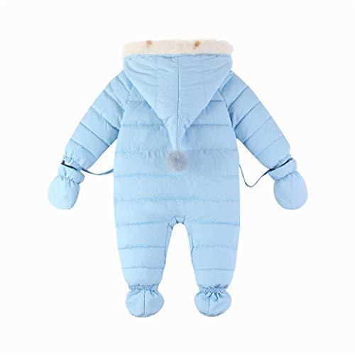 ab74dd8d5026 Baby 3 Piece All in One Hooded Puffer Winter Thick Down Snowsuit Jumpsuit  Set