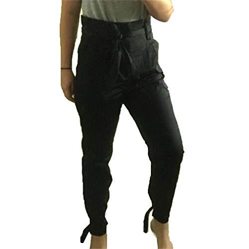 Slim Pantalons Ceinture Plus Pieds Noir Casual Taille avec Haute Crayon La Pantalon Etroits Pantalon Leggings lgant de Longs Mode Taille Femme FZBSBw