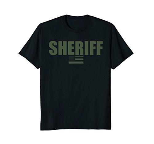 Mens Sheriff OD Green On Duty Uniform T-Shirt Medium (Sheriffs Uniform)