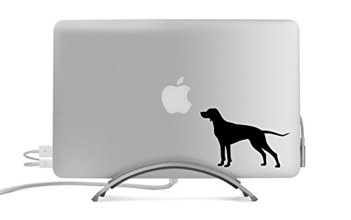 (Pointer Dog Silhouette Five Inch Black Decal for Car, Truck, MacBook, Laptop, Etc.)