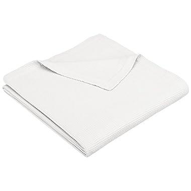 Pinzon Brushed Cotton Waffle Blanket - King, White