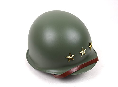 Replica WWII US Army Military 3 Stars M1 Double-deck Green Helmet