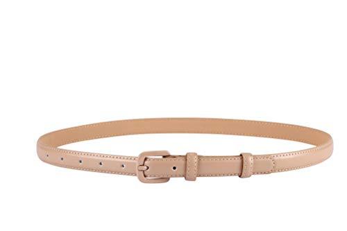 VOCHIC Trendy Women Leather Skinny Belts for Jeans Pants Thin Dress Waist Belt