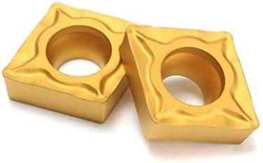 PIKA PIKA QIO 10pcs Carbide Insert titannitriert Carbide Klinge Cutter CCMT060204-HM YBC251 Drehwerkzeuge