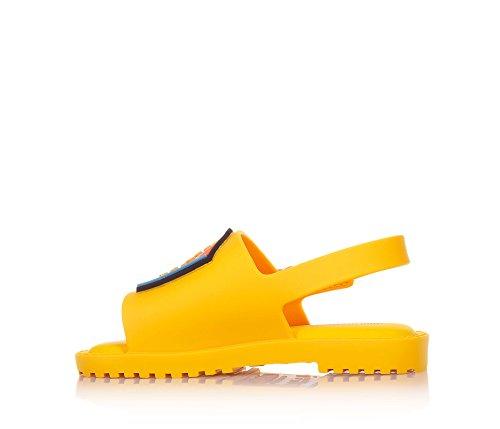 d'une papillon Fille 21 made Mia MINI avec Fabula et Brazil Sandale Filles chenille MELISSA d'un in jaune motif PqqZOw
