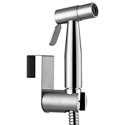 Achiotely Handheld Bidet Toilet Sprayer, Stainless Steel Bathroom Bidet Sprayer Set, Baby Cloth Diaper Sprayer, Wall or Toilet Mount