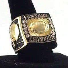 Decade Awards Fantasy Football Championship Ring | Heavy FFL Champion Winner (GOLD 8) Mvp Draft