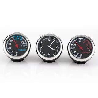 EDTara Car Dashboard Thermometer/Humidity Meter/Quartz Clock/ - High/Low Temperature Resistant,Perfect Car Decoration