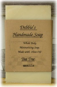 Wholesale Goats Milk Soap - Debbie's Tea Tree Handmade Soap (4 bars)