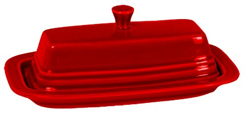 amazoncom fiesta 2piece covered butter dish scarlet butter dishes