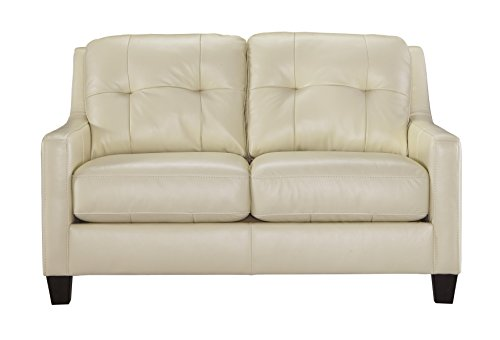 Ashley Furniture Signature Design - O'Kean Contemporary Leather Upholstered Tufted Back Loveseat - Galaxy