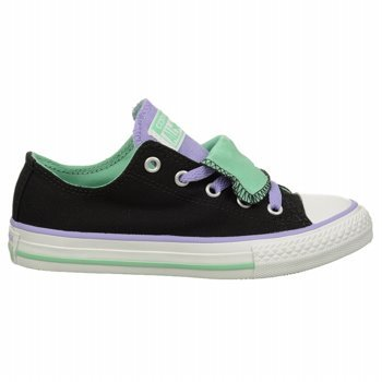 d825604b0d0 Amazon.com  Converse Kids Girl s Chuck Taylor  All Star  Double Tongue Ox (Little  Kid Big Kid) Black 6 Big Kid M  Everything Else