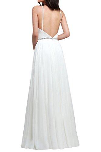 Missdressy - Vestido - trapecio - para mujer Weiß