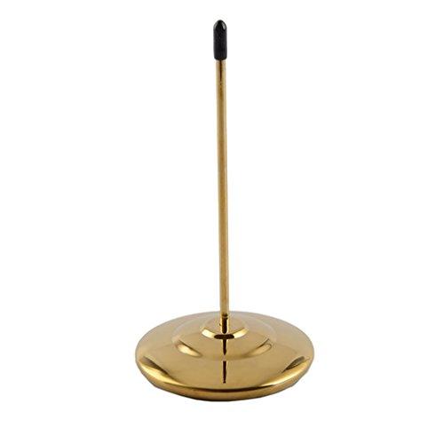 (Baoblaze Docket Spike Metal Paper Check Voucher Receipt Spindle Restaurant Use Silver Gold - Gold )