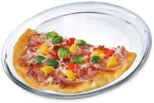 Simax Glassware Glass Pizza Form | Heat, Cold and Shock-Proof Borosilicate Glass, Made in Europe, Dishwasher Safe, 12.5-inches