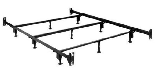 amazoncom sturdy metal bed frame with headboard and footboard brackets california king box spring frames - Metal Bed Frame With Headboard