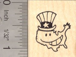 Patriotic American Rubber Stamp, United States of America, Uncle Sam -