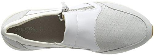 White Bianco Basse Omaya Geox Ginnastica Scarpe A da Donna Off D 7wqv84