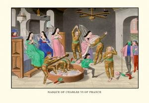"""Masque of Charles VI of France printed on 20"""""""" x 30"""""""" semi-"""