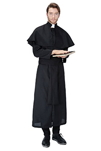 Sinastar Halloween Men Jesus Paster Cosplay Costume Priest Nun Dress-up Party Ball Uniforms (High Priest Costume For Sale)