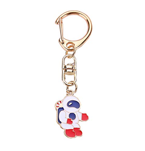 Puppy Christmas Gift Tags - BBEART Puppy Keychain, Dog Pendant Key-Ring Dog Memorial Keyring Jewelry Puppy ID Tags Metal Keyring (Astronaut)