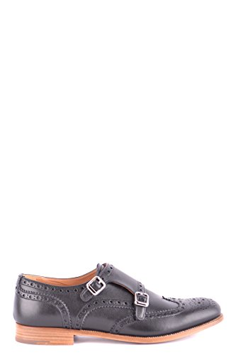 Church's Women's Mcbi069123o Black Leather Monk Strap Shoes by Church's