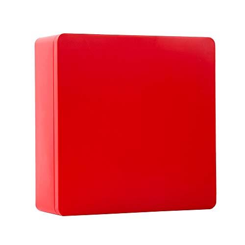 (Tianhui Classic Box Rectangular Red Empty Tin Box Containers, Gift, Jewelery and Storage Tin Kit, Home Organizer -8.5x8.5x3 inch (red, Square))