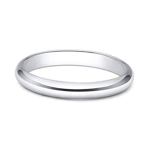 (Sterling Silver Wedding Band 3mm Men or Women Bridal Ring Size 9 | Polished Finish | Tarnish Resistant)