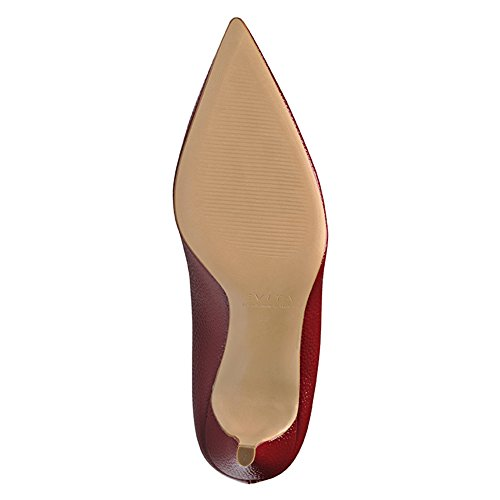 Evita Shoes - Zapatos de vestir de Piel para mujer Rojo - Dunkelrot