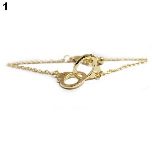 gu6uesa8nFashion Simple Style Alloy Handcuff Bracelet Women Casual Party Jewelry Gift - Golden