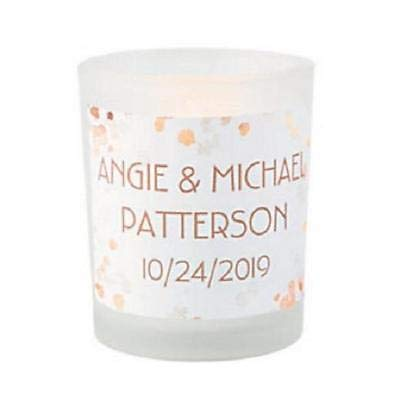 12Ct Personalized Glass Votive Holders for Fall Theme Wedding Party Favors