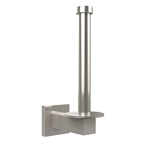 - Allied Brass MT-24U-PNI Montero Collection Upright Toilet Tissue Reserve Roll Holder, Polished Nickel