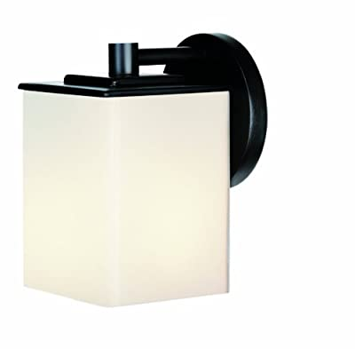 Forecast Lighting F8498-19 Midnight One-Light Exterior Wall with Etched White Opal Glass