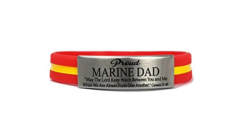 (Dad Laser Engraved Bracelet to Support Military Police and Firefighters (8