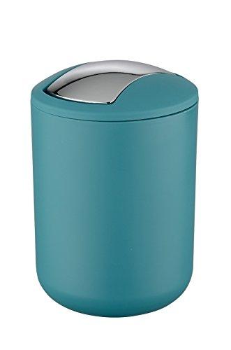 Wenko Brasil Cubo con Tapa 2 L, Elastomero Termoplastico (TPE), Petroleo, 14x14x21 cm