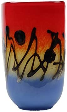 Murano Art Collection European Art Glass Odyssey Square Vase