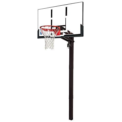 "Spalding 54"" U-Turn In-Ground Acrylic Basketball Hoop"