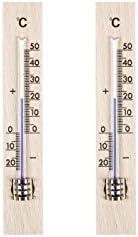 Star Zimmer Thermometer Holz nussbaumfarbig 14 cm x 3,0 cm