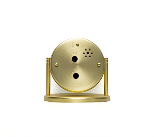 Crosley Nautical Alarm Clock for Desk Side Table and Night Stand, All Metal Case with Dome Glass Lens, Adjustable Viewing Angle, Simple Operating Controls, Brass - Nautical design great for desk or bedside All metal construction Antique Bronze finish - clocks, bedroom-decor, bedroom - 31VFovnov0L -