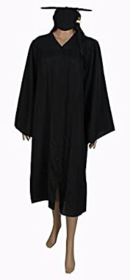 Happy Secret Unisex Matte Graduation Gown Cap With Tassel Set Charm 2019 for High School and Bachelor