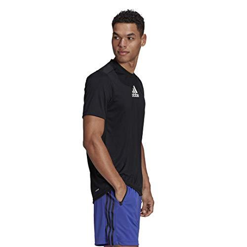 adidas Men's Primeblue Designed 2 Move 3-Stripes Tee 2