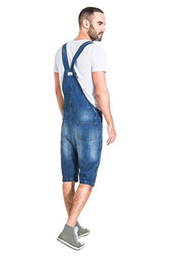 Pantaloncini Salopette Jesseshortdenim Stonewash Uomo Uskees Corte nqWxa5BcI