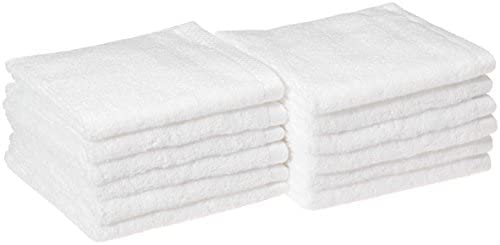 AmazonBasics Quick Dry Washcloth Cotton 12 Pack product image