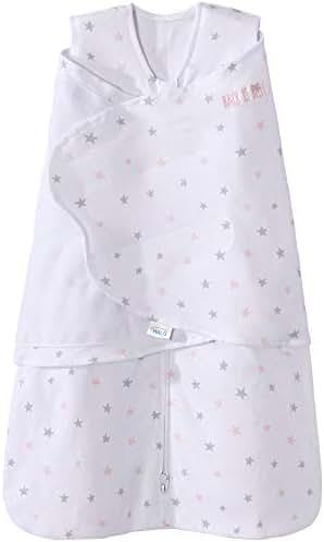 Halo 100% Cotton Sleepsack Swaddle Wearable Blanket, Pink Stars, Newborn