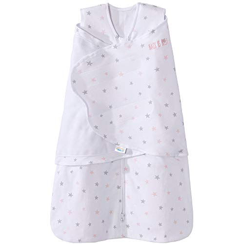 Halo 100% Cotton Sleepsack Swaddle Wearable Blanket, Pink Stars, Small