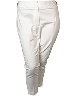Calvin Klein Women's Cropped Buckle Pants