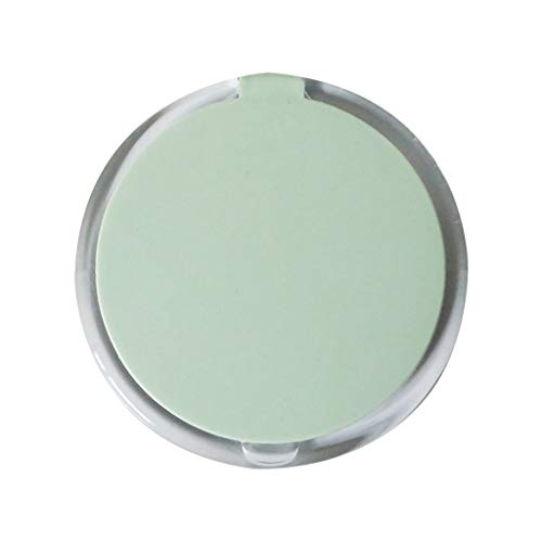 Sdvh Makeup Mirror with Travel, Compact Makeup Mirror Handheld Mirrors for Women Round Foldable Portable Makeup Travel (Color : Green, Size : 9.5cm) ()
