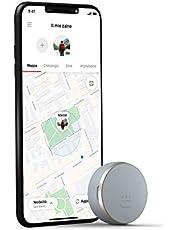 Vodafone Curve Smart GPS-tracker met Bluetooth, licht, voor je tas, rugzak, auto, computer, sleutels en nog veel meer, grijs/goud